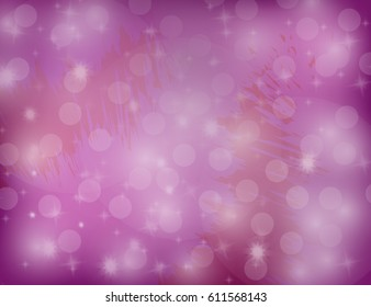 Abstract Sparkling Stars on Blue Holiday Background. Vector Illustration.