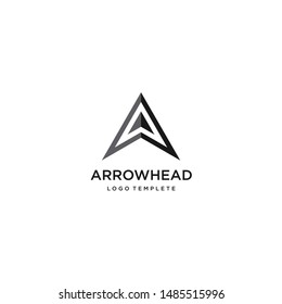 abstract spear / Simple Arrowhead logo design inspirations with letter A initials.