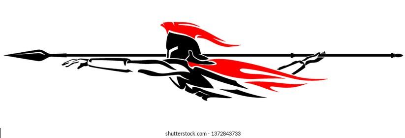 Abstract Spear Throw Spartan