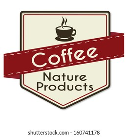 abstract special coffee label on white background