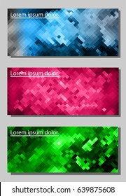Abstract spectrum colorful  mosaic.3d  geometric  Card with a pixel design