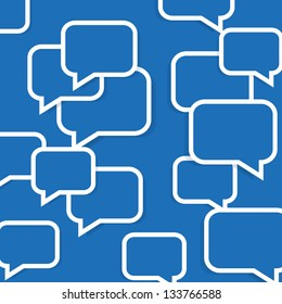 Abstract speech bubble background