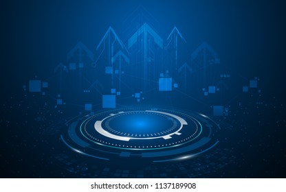abstract speed fast connection tech innovation concept background eps 10 vector
