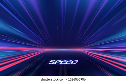 Abstract speed lights motion background