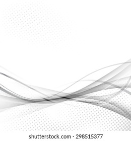 Abstract speed swoosh futuristic modern hi-tech line motion particle layout template. Vector illustration