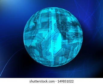 abstract sphere chip