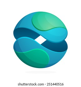 Abstract sphere eco logo