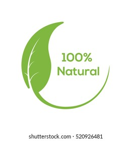 Abstract sphere green leaf logo element vector design. Ecology circle natural symbol.