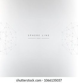 Abstract Sphere Lines Background. Vector illustration