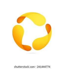 Abstract sphere logo