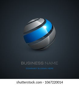 Abstract sphere logo design