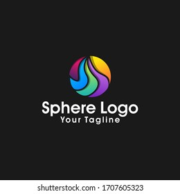 Abstract sphere logo design vector template