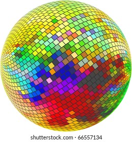 Abstract sphere. Vector illustration.