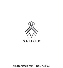 Abstract Spider Logo Design Vector