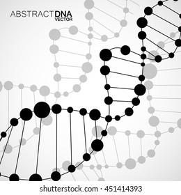 Abstract spiral of DNA, molecular background, vector illustration, eps 10