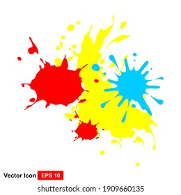 Abstract splash background. Vector banner with splats.