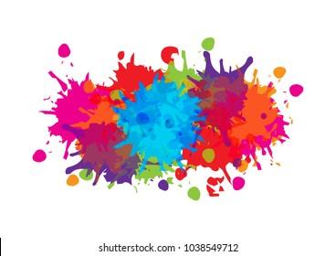abstract splatter color background design. illustration vector design