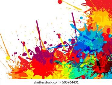 abstract splatter color design background illustration stock vector