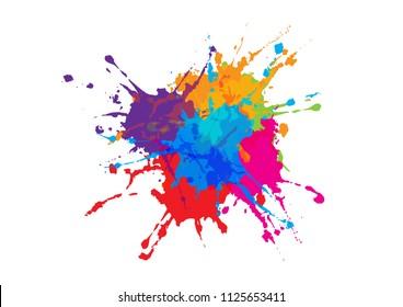 abstract splatter color design background. illustration vector design