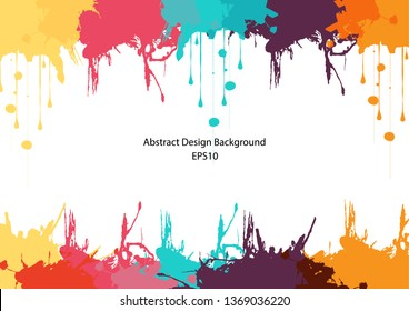 abstract splatter color design background. Bright watercolor. illustration vector design