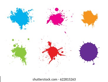 abstract splatter color pack background