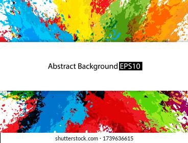 abstract splatter multi color design background,illustration vector design background.