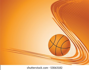 Abstract sport background. Vector illustration with Ball for design.