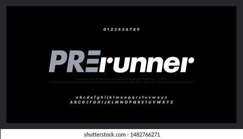 Abstract sport modern alphabet fonts. Typography technology electronic music future creative italic font. vector illustraion