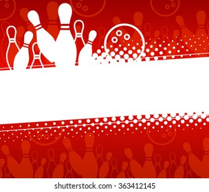 Abstract sports background with elements of the game of bowling