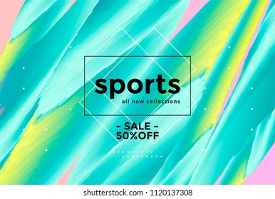 Abstract sports background with vibrant gradients shapes. Vector sale banner.