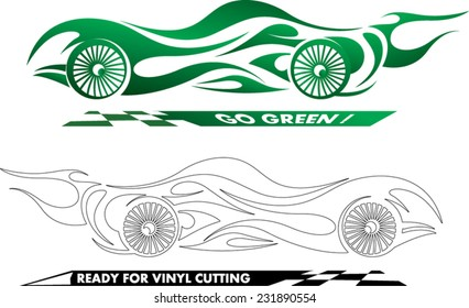 abstract sports car illustration ready for edit and vinyl cutting
