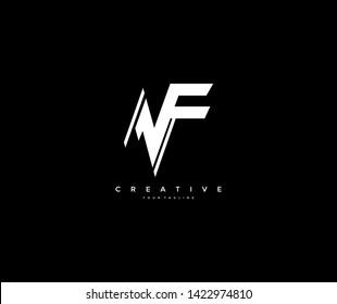 Abstract Sporty Stylish Monogram NF Logotype