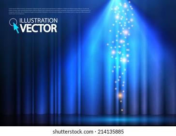 Abstract spotlight background. Vector illustration