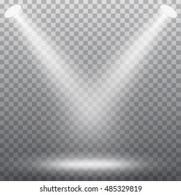 Abstract spotlight effect on dark background. Vector eps10 illustration