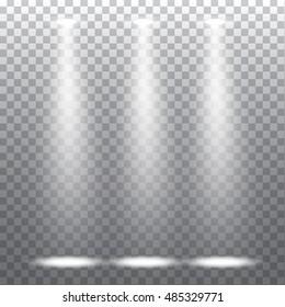 Abstract spotlight effect on light grey background. Vector eps10 illustration