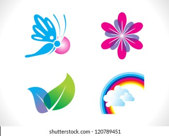 abstract spring icon template vector illustration