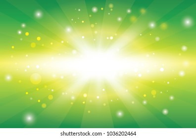 Abstract spring or summer sunny background .Sunny green natural background, vector illustration.