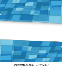 Abstract square blue background. Vector. Clip-art