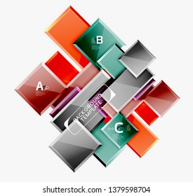 Abstract square composition for background, banner or logo. Vector