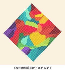 Abstract square Multicolored Background
