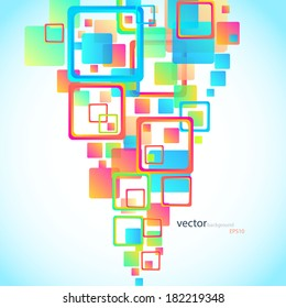 Abstract square shapes, colorful background. Vector eps10