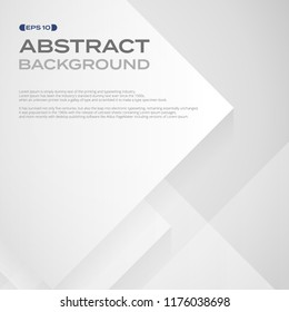 Abstract of square white paper pattern in layers background, illustration vector eps10