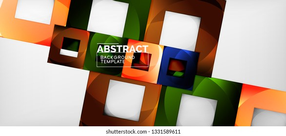 Abstract squares geometric background can be used in cover design, book design, website background. Vector illustration