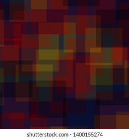 Abstract squares pattern. Deep blue geometric background. Uncommon random squares. geometric chaotic decor. Vector illustration.