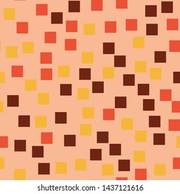 Abstract squares pattern. Pink geometric background. Uncommon random squares. Geometric chaotic decor. Vector illustration.
