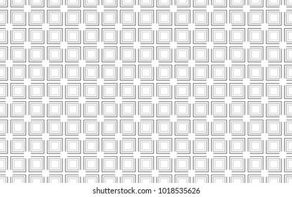 Abstract squares seamless pattern. Stroke vector background. optic illusion wave effect