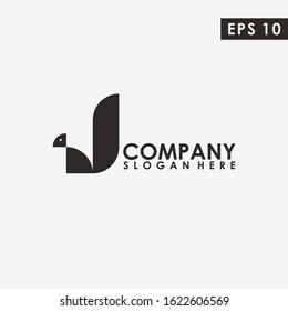 Abstract Squirrel Logo Design Vector Template. Modern Design. Vector Illustration
