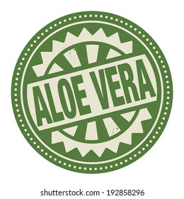 Abstract stamp or label with the text Aloe Vera written inside, vector illustration