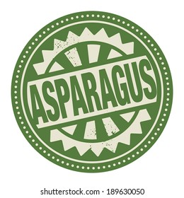 Abstract stamp or label with the text Asparagus written inside, vector illustration