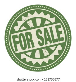 Abstract stamp or label with the text For Sale written inside, vector illustration
